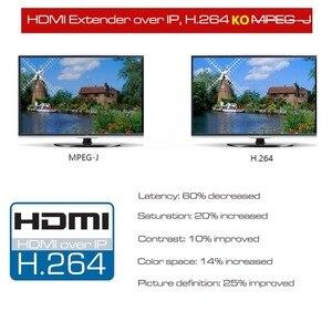 Image 2 - 660ft lepiej niż HDBitT H.264 konwerter HDMI TCP IP HDMI IR Extender przez Ethernet RJ45 CAT5/5e/6 kabel jak rozdzielacz HDMI