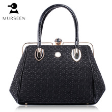 2017 Luxury Leather Women Handbag Famous Brands Lace Hollow Out Shoulder Bag Designer high Quality fashi Black Bag Ladies Bolsas(China)