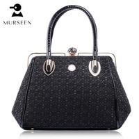 2017 Luxury Leather Women Handbag Famous Brands Lace Hollow Out Shoulder Bag Designer High Quality Fashi