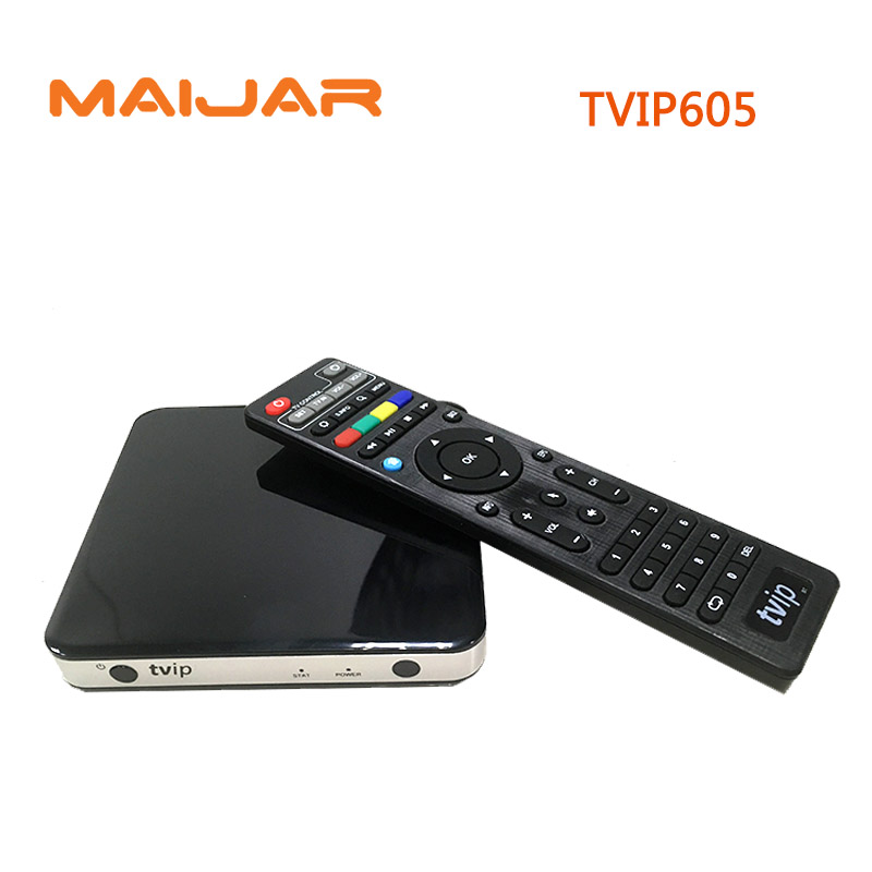 TVIP 605 Smart TV Box Linux OS Support Quad Core TVIP605 Super Clear Double System Linux or Android OS Set Top Box 5pcs anewkodi mini tvip 410 412 box amlogic quad core 4gb linux android 4 4 dual os smart tv box h 265 airplay dlna 250
