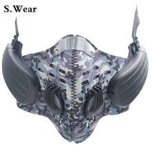 S. Usar Máscara Anti Nevoeiro Condução Óssea Fones de ouvido Bluetooth Esportes Sem Fio Profissional Chamadas Mãos Livres Falar de Música Headset