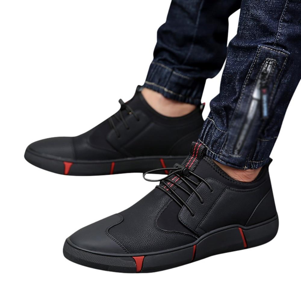 Mode Respirantes Plat Automne La Baskets Décontractées Printemps Bas Tête À Pour Ronde 2019 Chaussures slip Noir Hommes Non 7RCWxgZvwq