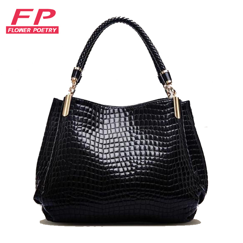 ФОТО New 2016 bolsas femininas mujer Women Bags Handbags Women Famous Brands Leather Women Shoulder Vintage Crocodile Tote Bag Bucket