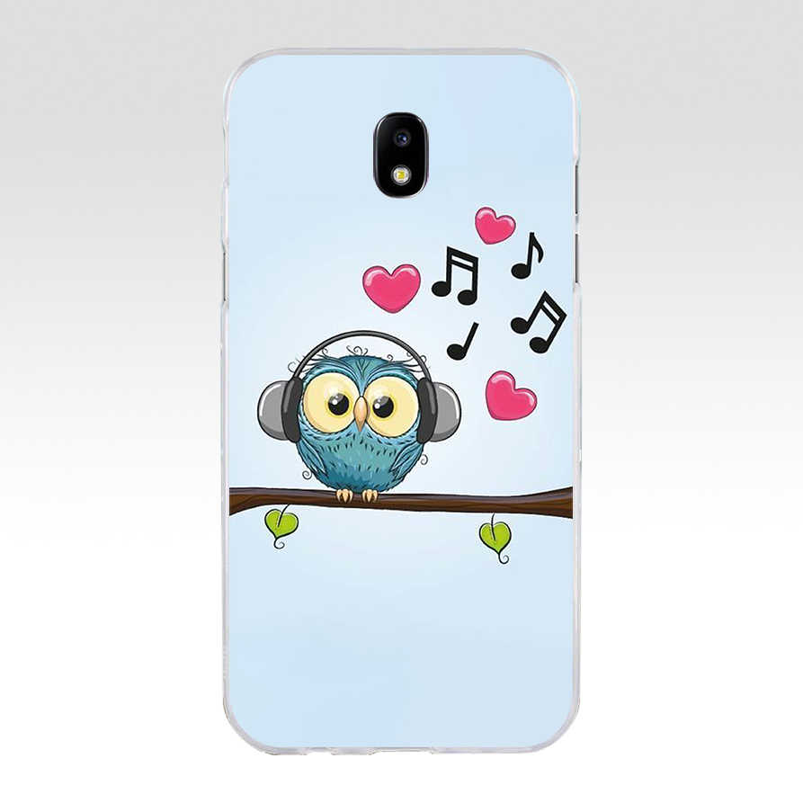 99WE Cute cartoon owl Soft Silicone Tpu Cover phone Case for Samsung j3 j5 j7 2015 2016 2017 j330 j2 j4 prime j4 j6 Plus 2018