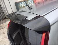 JIOYNG 100% Carbon Fiber CAR REAR WING TRUNK LIP Double Deck SPOILER FOR 14 17 HONDA FIT / JAZZ 2014 2015 2016 2017 BY EMS