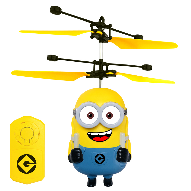 DESPICABLE ME MINION Induction RC Helicopter Flying UFO Quadcopter Drone  Ar.drone Kids Toy VS Fairy Doll x5c Buy 1 get 1 Free a3f430db34