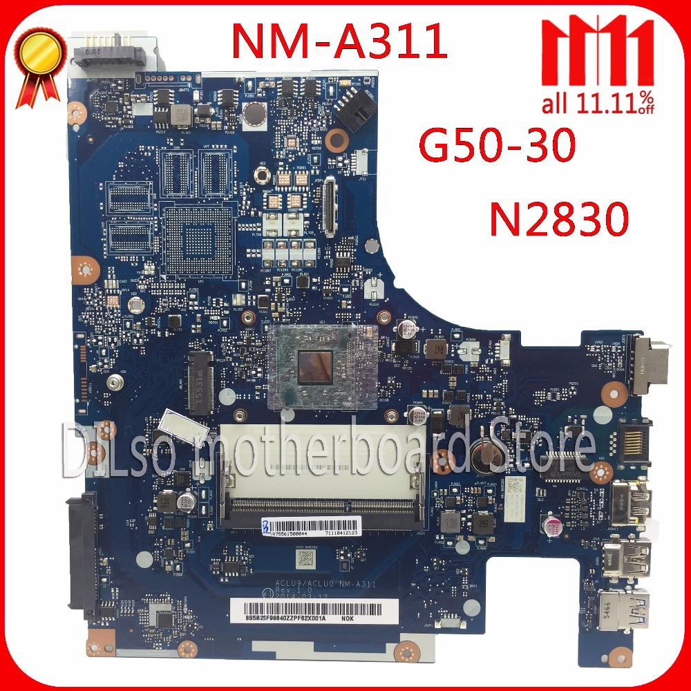 KEFU ACLU9 / ACLU0 NM-A311 motherboard For Lenovo G50 G50-30 Laptop Motherboard Test motherboard DDR3 with N2840 CPU Onboard 5b20h14390 aclu3 aclu4 uma nm a362 for lenovo g50 80 laptop motherboard with 3805u cpu