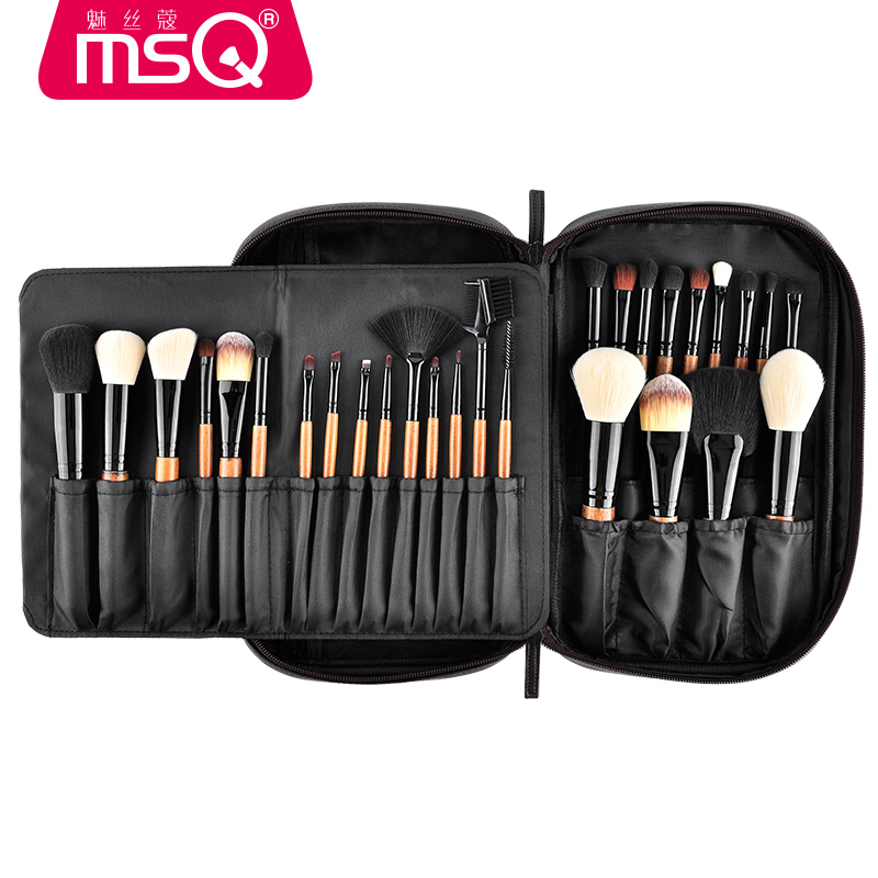 MSQ Pro 28pcs Makeup Brushes Set Powder Foundation Eye Shadow Makeup Brush Lip Blusher Cosmetics Tool High Quality Natural Hair focallure 3pcs pro face makeup daily using foundation cream loose powder with high quality makeup brush