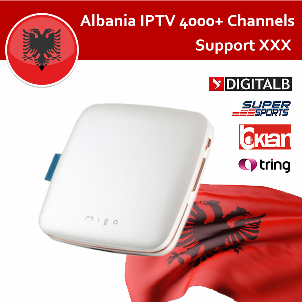 US $110 76 22% OFF|Ipremium Migo Android Smart TV Box with Albania Albanian  Tring Sport IPTV 4800+ Live Channels Free for 1 year H 265 Media Player-in