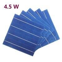10 шт. 45 Вт 156 мм фотоэлектрических поликристаллического кремния солнечных батарей 6x6 Класс для DIY Панели солнечные