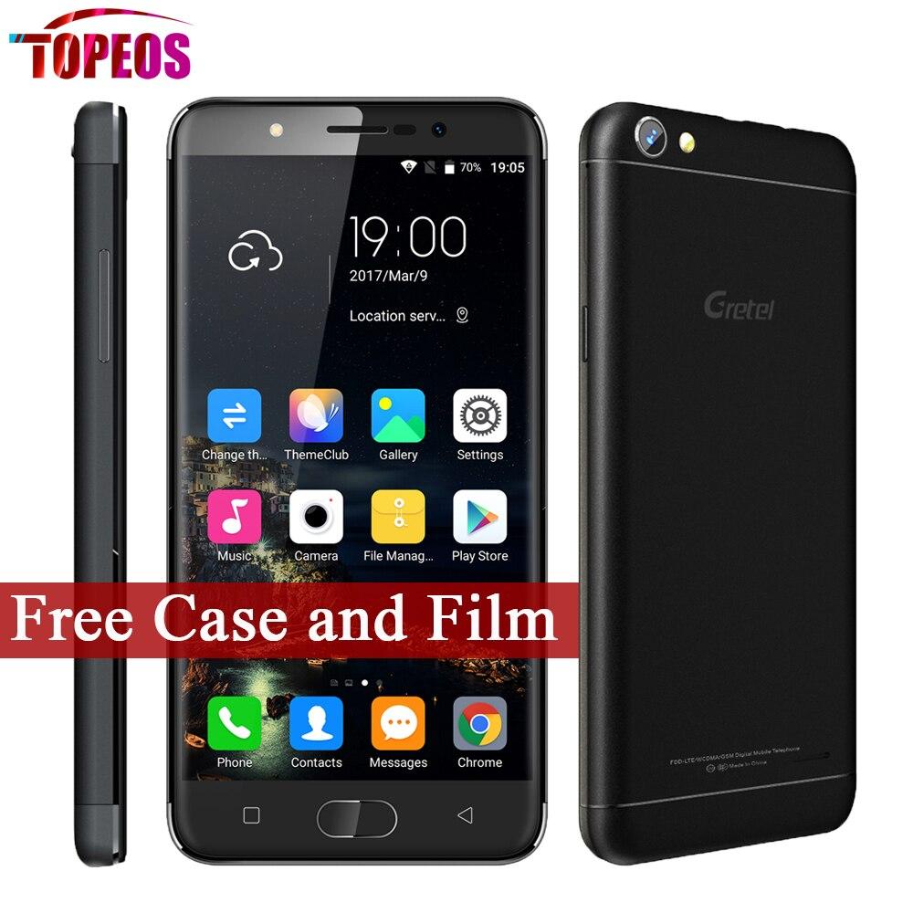 bilder für 5 zoll Gretel A9 MTK6737 Quad Core Android 6.0 Telefon 2 GB RAM 16 GB ROM 1280*720 8MP Fingerprint 2300 mAh Vollmetall Smartphone