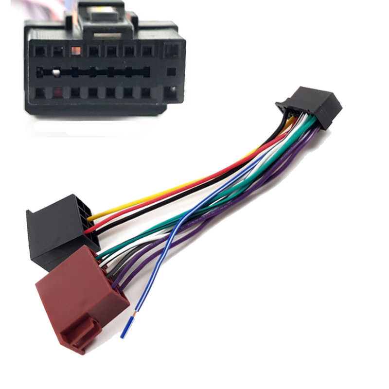 iso wiring harness cable adaptor connector for alpine ine-w960a ilx-007e  ive-