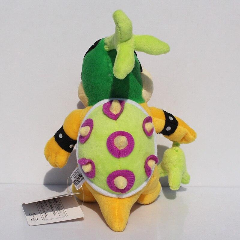 Super Mario Bros Iggy Купа с зеленая трава плюшевые Игрушечные лошадки с тегом мягкие Куклы для детей 17 см