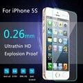 Для iPhone 5s стекла 0.26 мм на для iphone 5s 6 s закаленное стекло защитная пленка экрана для iphone 5/5s протектор экрана стекло