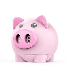 лучшая цена Portable Bluetooth Speaker Piggy Shaped Mini Stereo USB TF Card Wireless Speaker OUJ99