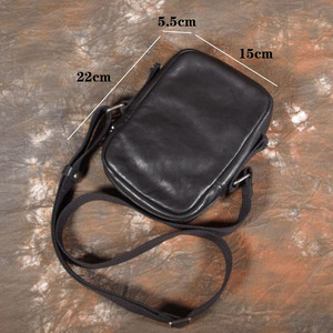 Image 5 - AETOO بسيطة صغيرة عليقة هاتف محمول حقيبة صغيرة crossbody حقيبة كتف الرجال حقيبة جلدية الطبقة الأولى غير رسمية
