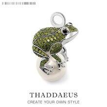 Anhänger Frosch Und Perle, 2019 marke Neue Mode Trendy Schmuck Europa 925 Sterling Silber Bijoux Zubehör Geschenk Für Männer Frau