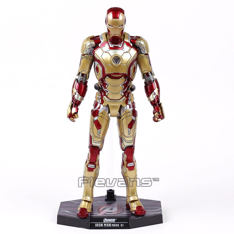 Image 4 - Hot Toys Marvel Iron Man Mark XLII MK 42 with LED Light 1/6 Scale PVC Figure Collectible Model Toy-in Action & Toy Figures from Toys & Hobbies