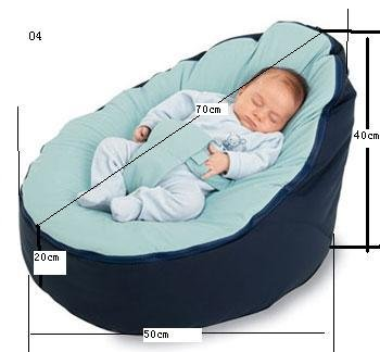 Free Shipping Disco Convertible  Baby Beanbag Chair, Two Tops Baby Beanbags Cover Only Blue