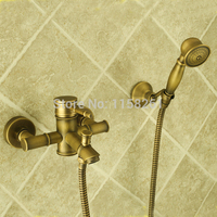 Bathtub Faucets Bamboo Shower Faucet Mixer Tap Antique Bronze Brass Bath Shower Faucet Set Bathtub Faucet Torneira Bat