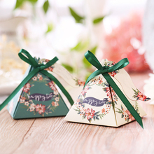 RMTPT 50pcs/lot Many styles Triangular Pyramid gift box wedding favors and gifts candy baby shower boxes for