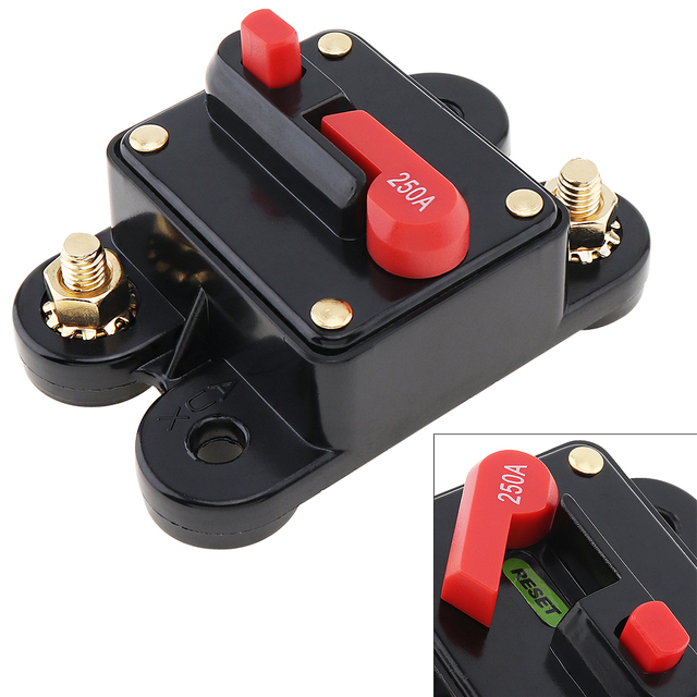 Best Price 250A DC 12V Car Audio Amplifier Circuit Breaker Fuse Holder AGU Style Stereo Amplifier Refit for Cars Vehicle Automobiles
