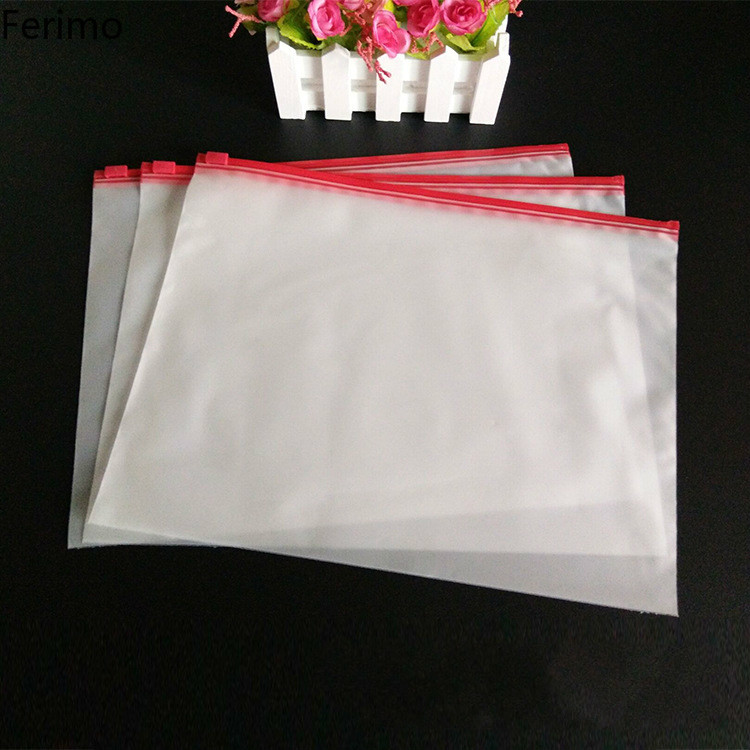 Feimo 100 шт. матовый прозрачный замок на молнии пластик сумки костюмы носки для девочек рубашки мальчиков упаковка мешок большой travel organizer