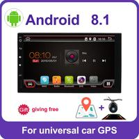 2din car radio gps android 8/9 car stereo cassette player recorder Radio Tuner GPS Navigation RDS support steering wheel control