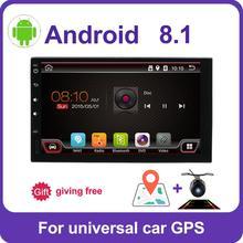 2 din auto radio gps android 8 car stereo lettore di cassette Radio registratore Tuner GPS di Navigazione RDS volante di sostegno di controllo