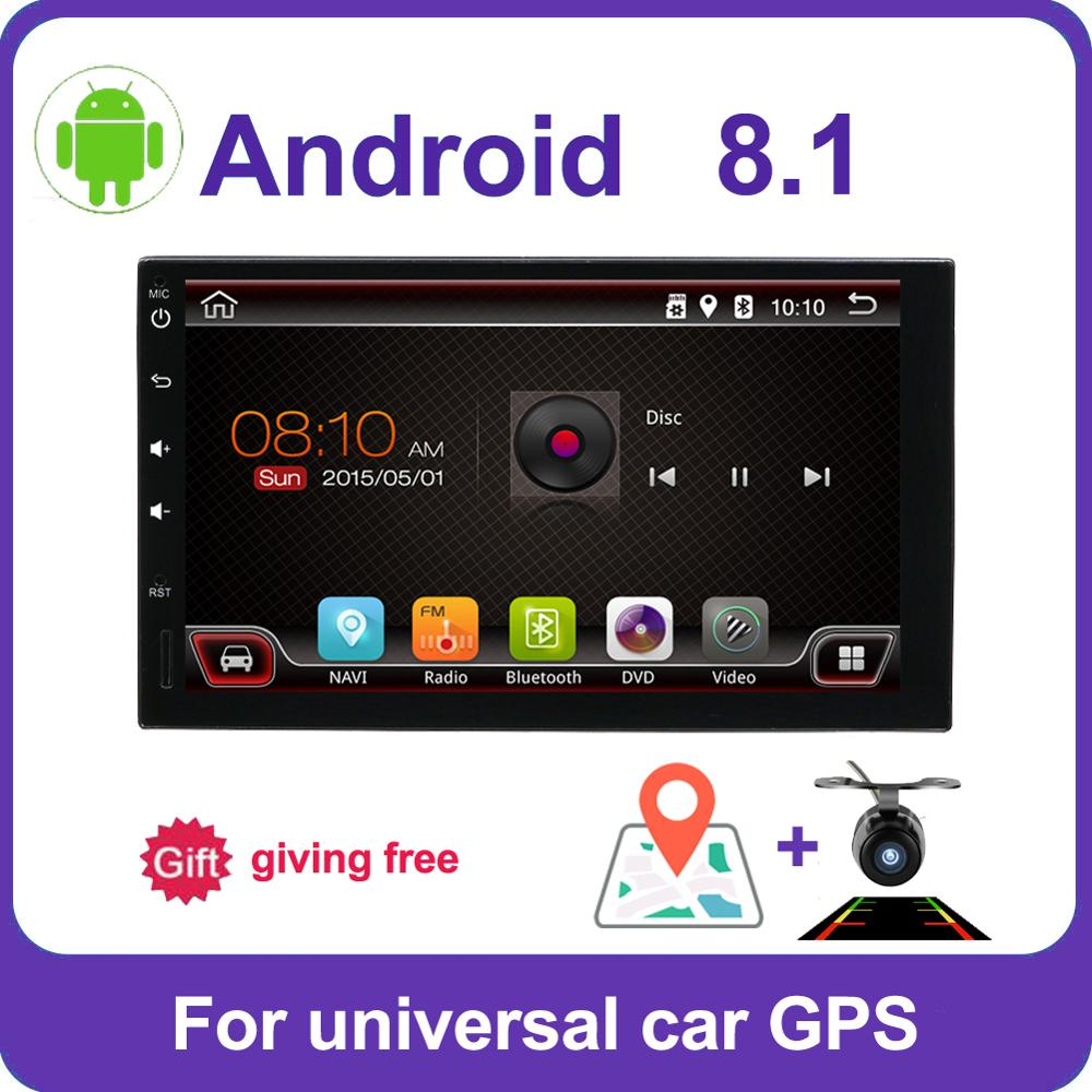 2din car radio gps android 7/8 car stereo cassette player recorder Radio Tuner GPS Navigation RDS support steering wheel control