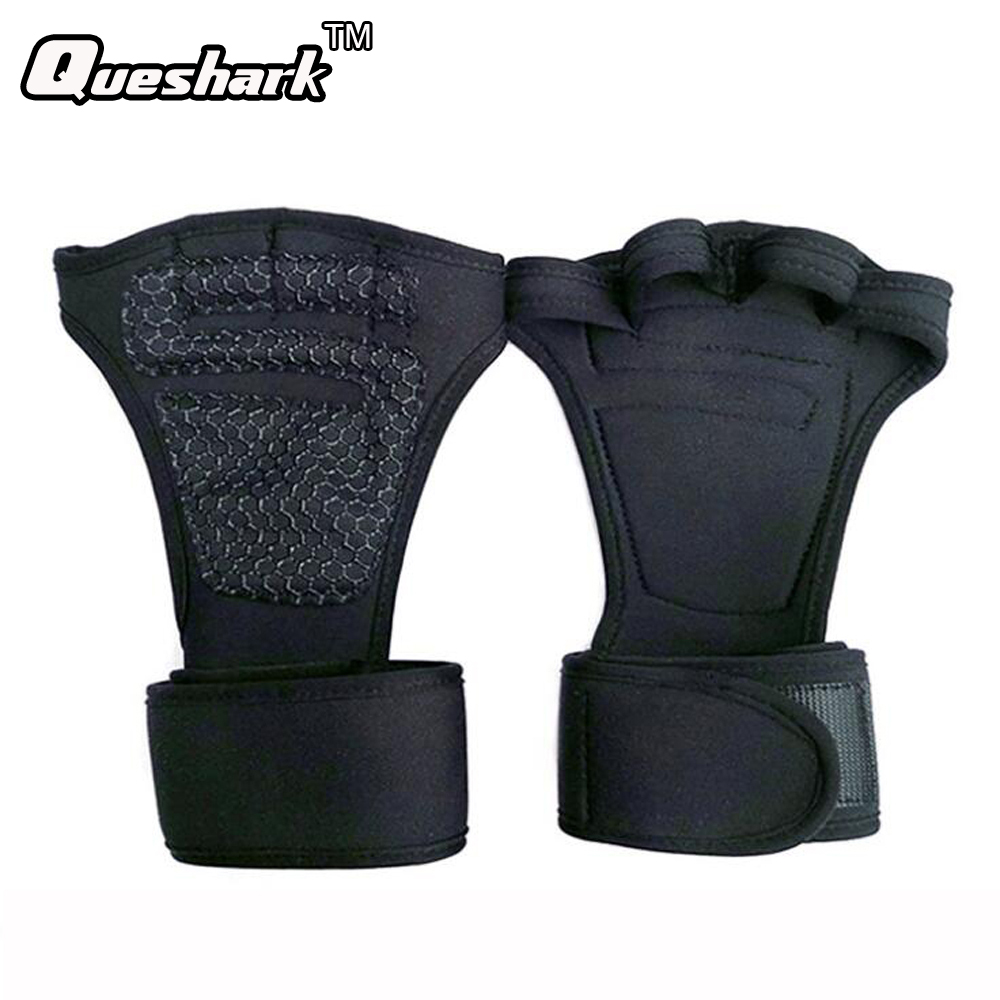 Weight Lifting Training Gloves Women Men Fitness Sports Bodybuilding Crossfit Gymnastics Grips Hand Palm Protector Gloves fitness protective glove hand palm barbell basketball sports men and women riding