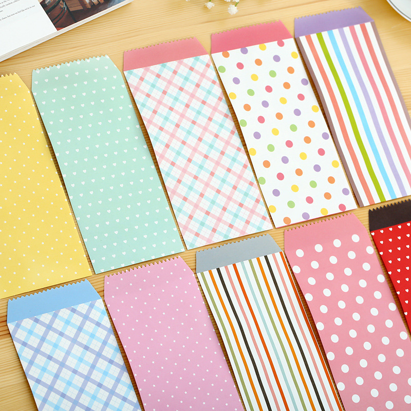 150 pcs/ set Size 175*86mm Cartoon Colorfull ordinary paper gift window envelopes/sobres kraft/papel/Horizontal version 2266