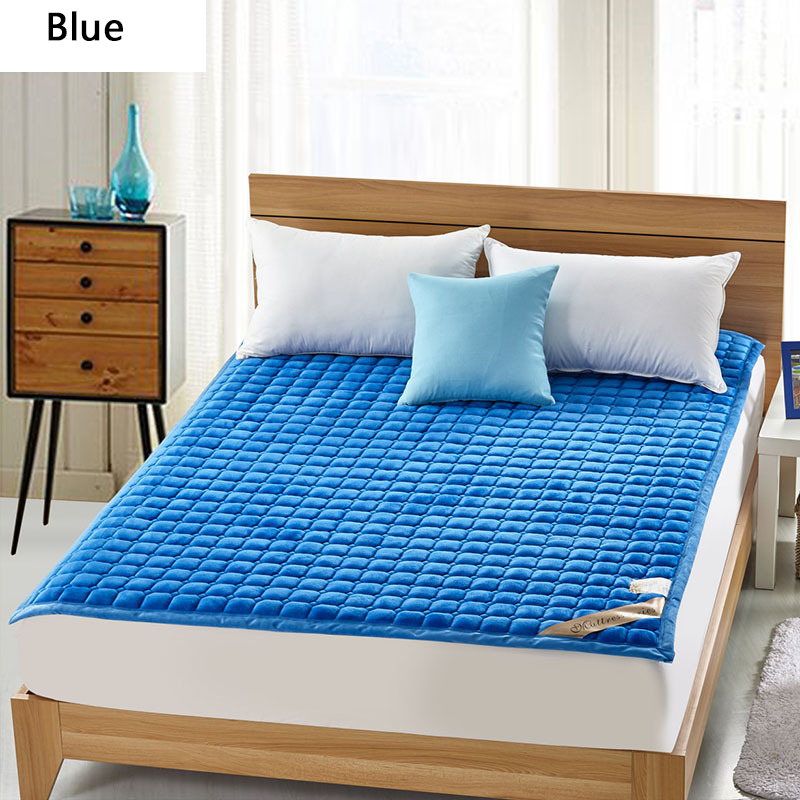 Thick Warm Foldable 1.8 m Dormitory Mattress Korea Hotel Bedding NEW Topper Quilted Bed Can Customizable 120 200cm 150 200cm feather quilted mattress topper with straps home furniture for home five star hotel soft grey 5cm bedspread