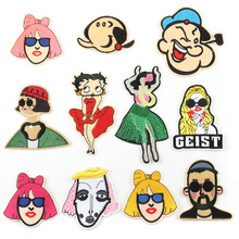 Embroidered cloth stickers cute cartoon characters fashion childrens clothes patch embroidered chapter clothing