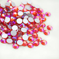 High quality 1440PCS 8sizes hyacinth AB Non Hotfix Flatback Nail Rhinestones For Nails 3D Nail Art Decoration Gems