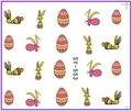 6 упак./лот блеск воды пропуск ногтей наклейки на мультфильм лимон яблоко кролик пасхальное яйцо улыбающееся лицо SY549-554