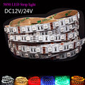 LED Light Strip rgb 12V 24V 5m SMD 5050 leds stripe Non/waterproof tape bar ribbon rope decor lamp RGB White tiras
