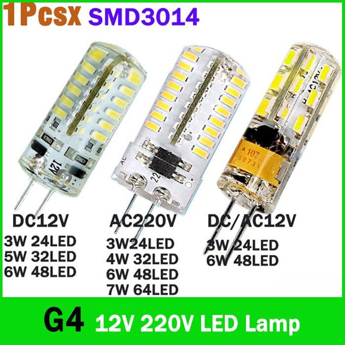 G4 led 12V Lamp Dimmable SMD3014 G4 3W 4W 6W 7W DC AC 12V 220V Replace 10W 30W halogen lamp 360 Beam Angle LED Bulb lamp iminovo 20 pack g4 led light bulb ac dc 12v 220v 24 48led replace 10w 30w 50w halogen silicone smd3014 3w 5w 9w ceiling lighting