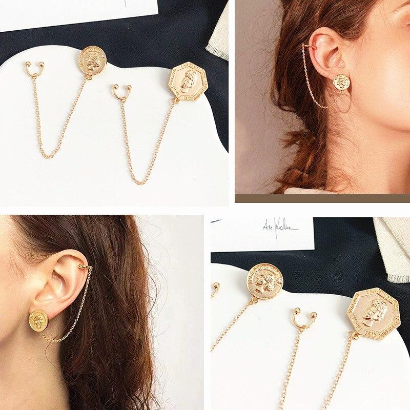 Women Girls Stud Earrings Unique Bohemian Earrings Geometric Hollow Earrings Metal Alloy Vintage Earring Jewelry for Wedding Party Christmas Gift