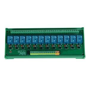Image 4 - 12 kanal Trigger Spannung Relais Modul PLC realy modul optokoppler relais modul din schiene montage. PLC control modul