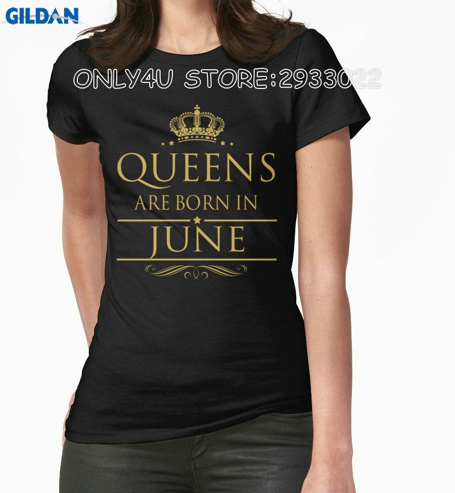 Gildan only4u angepasst t shirts oansatz kurzhülse frauen königin sind geboren im...