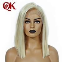 QueenKing парик для волос на шнурках, 180%, платиновый блонд, 613, парик для Боба, шелковистые прямые, Бесплатная часть, предварительно сорванные бра