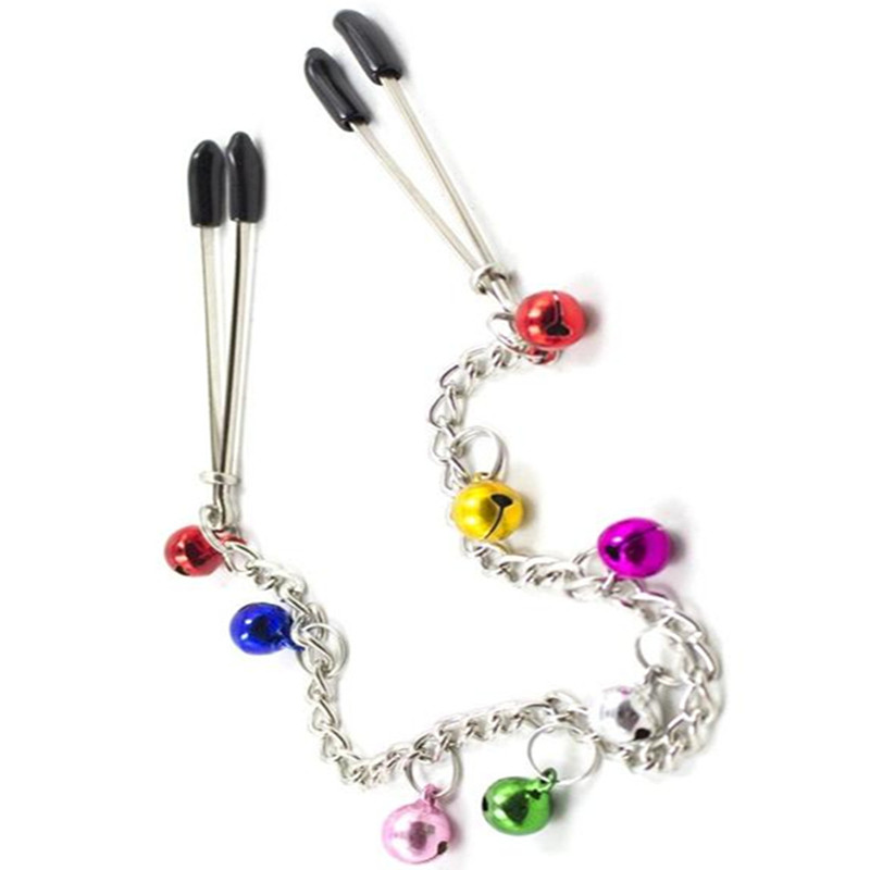 Buy Metal Nipples Clamps Breast Clip Color Bells Bdsm Slave Adult Games,Fetish Erotic Sex Products Flirting Toys Women - GW15