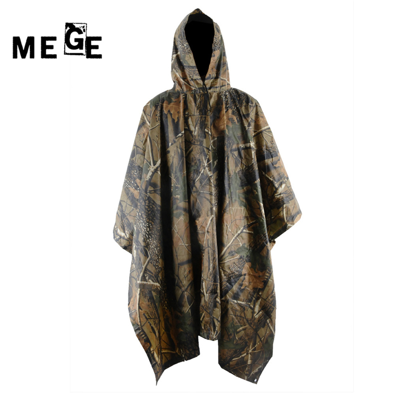 MEGE Brand Outdoor military camouflage poncho waterproof scratchproof tents mats for hunting birdwatching PVC surface