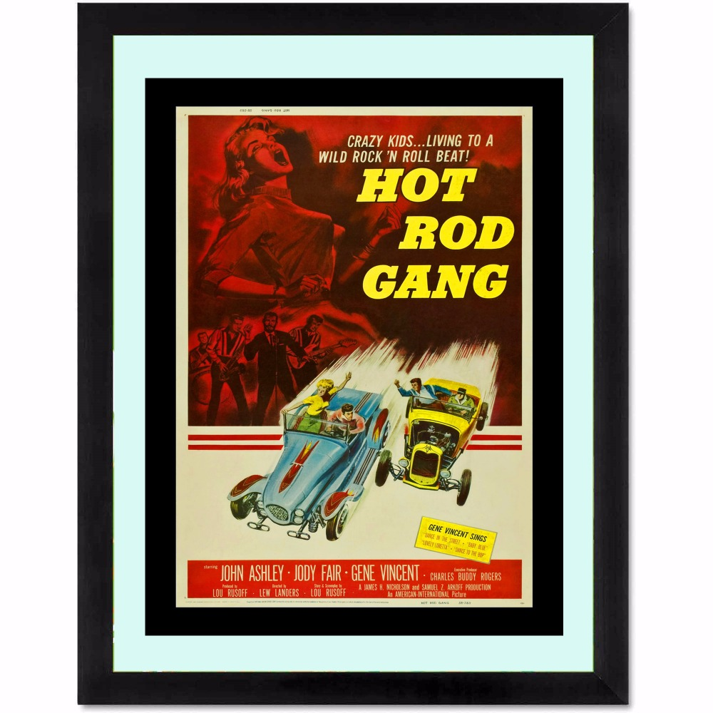 Hot Rod Gang Movie Modern Poster Art Wall Pictures Silk Fabric Printed Painting Room Decoration Home Decor No Frame image