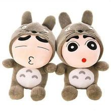 CXZYKING Crayon Shin Chan Plush Toy Japanese Anime Shin Chan Cosplay Totoro Panda Plush Cute Stuffed Soft Doll Kids Toys