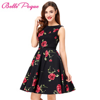50s Vintage Dress Women Summer Style Pin Up Retro Robe Dresses Plus Size XS XXXL Polka
