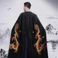 men's cape coat chinese emperor clothing Costume black emperor cloak cape red cape prince costume accessories ancient cape men