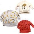 Crianças hoodies Pxue crianças roupas de Menina Bobo Choses 2016 outono Meninas tshirts plena manga terry Meninos t camisa roupas Para Crianças