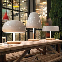 Nordic designers creative fashion wooden bedroom bedside lamp modern minimalist lovely mushroom head Table Lamps LO7186